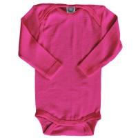 Cosilana atmungsaktiver Body Wolle Seide pink