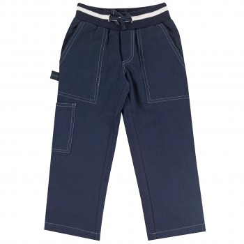 Robuste Twill Hose in navy