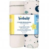 Moltontuch Bio Baumwolle, Doppelpack