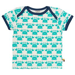 Kinder T-Shirt Krabbe grün