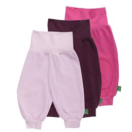 Baby und Kinderhosen Bio mit breitem Hosenbund 3er Pack