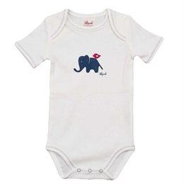 Bio Baby Body people wear organic - weiß mit Elefant
