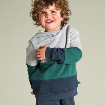 Sportlicher Sweat Pullover hellgrau