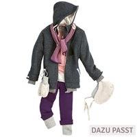 Vorschau: Wolle Leggings warm mitwachsend grau