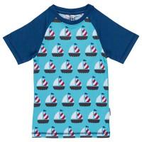 Slim Fit T-Shirt schmaler Schnitt Boote