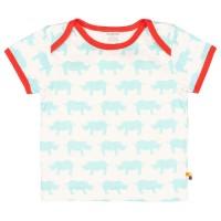 Kurzarm Shirt Nashorn himmelblau