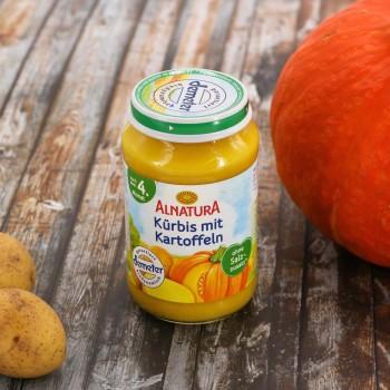 Kürbis & Kartoffel für Babys nach dem 4. Monat (190g)