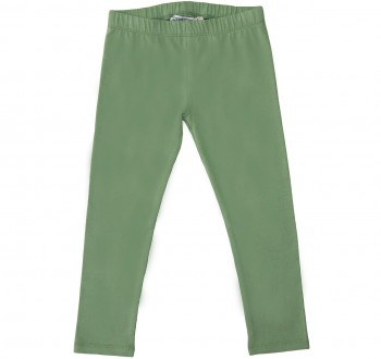 Elastische Uni Basic Leggings salbei-grün
