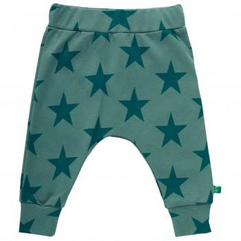 Krabbelhose Sterne Bündchen kräftiges grün