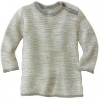 Pullover Baby Schurwolle in grau