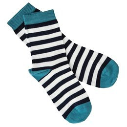 Feinstrick Socken Ringel navy