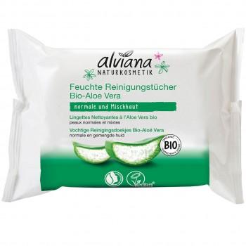 Feuchttücher Bio Aloe Vera (25 Stück)