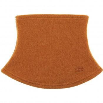 Loopschal Wolle Fleece karamell-braun