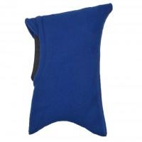 Schlupfmütze mit Schirm und Schal blau