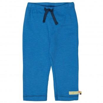 Leichte Sommerhose Waffelstruktur blau