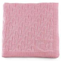 Leichte Öko Babydecke - sehr elastisch zum Pucken - rosa