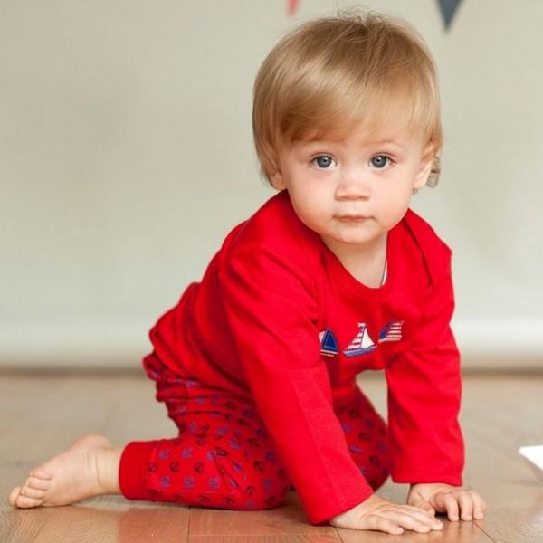 Öko Babyhose aus leichtem Jersey mit softem Leibbund