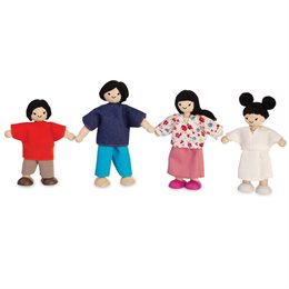 Asiatische Puppenfamilie Biegepuppen