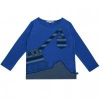 Bagger Langarmshirt in royal-blau