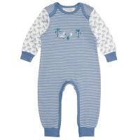 Vorschau: Bio Babystrampler langarm - Fairtrade & GOTS - blau