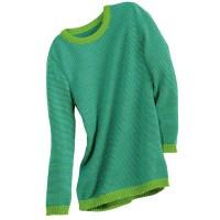 Vorschau: Leichter Wolle Pullover grün