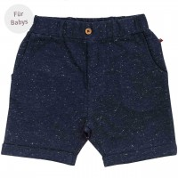 Edle Baby Sweat Shorts dunkelblau mélange