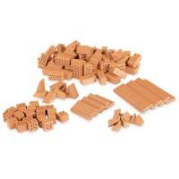 Zubehör Steinbaukasten Bausteine gemischt 100tlg+