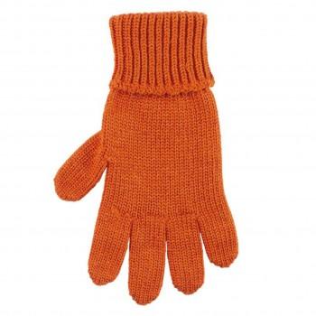 Kinder Handschuhe terracotta Strick