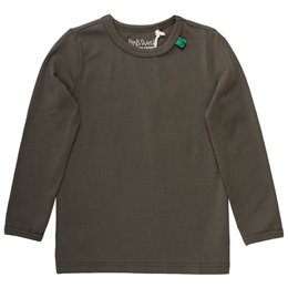 Langarmshirt Basic khaki uni