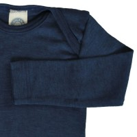 Vorschau: Atmungsaktives Wolle Seide Shirt marine