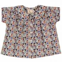 Mädchen Hemd Blumen zum Knöpfen