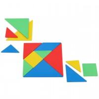 Tangramsatz - geometrische Figuren 28 Teile bunt