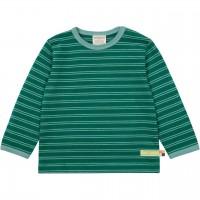 Langarmshirt gestreift smaragdgrün