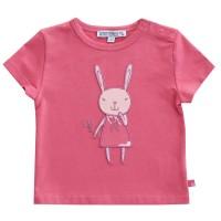 Altrosa Hasen T-Shirt mit Druckknöpfen