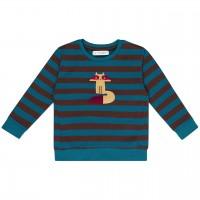 Sweater mit Waschbär Streifen blau-braun