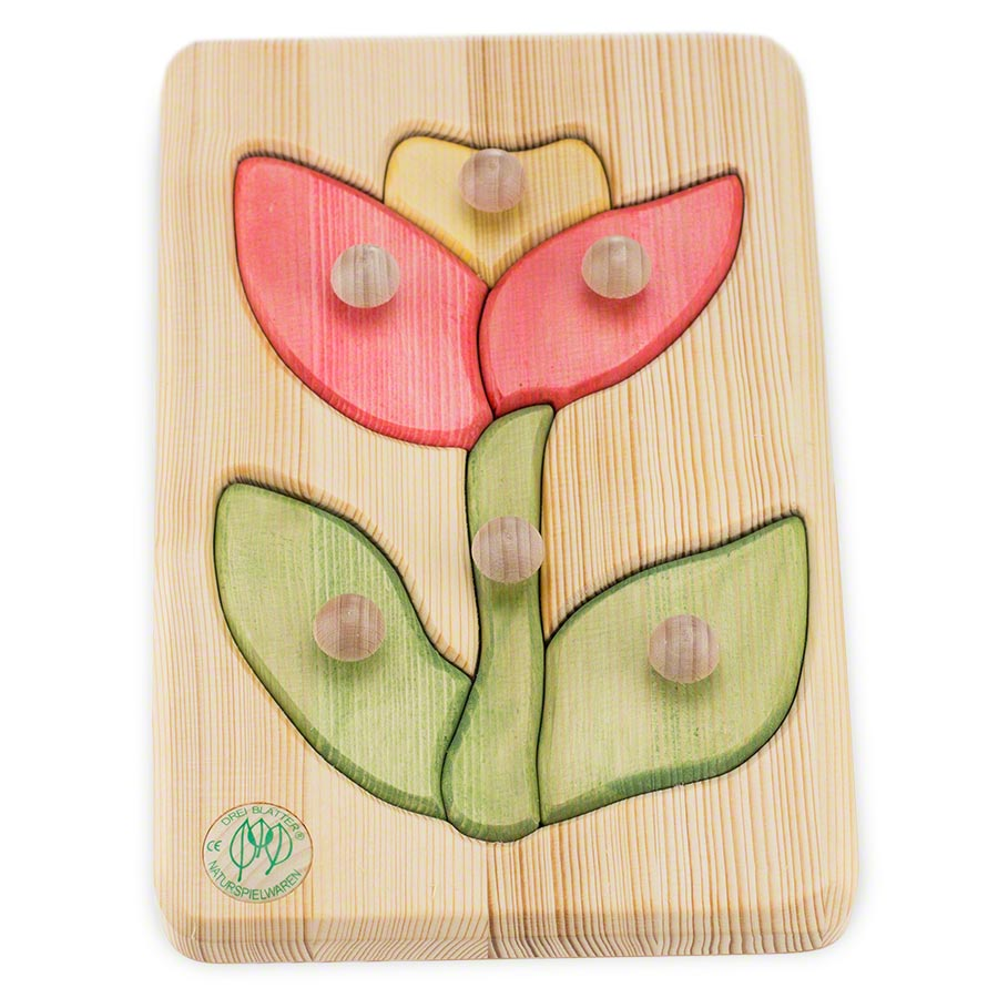 Holzpuzzle blume ab monate greenstories