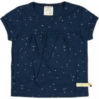 Leichtes Slub Jersey Shirt kurzarm dunkelblau