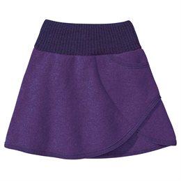 Rock Wolle mit breitem Strickbund lila