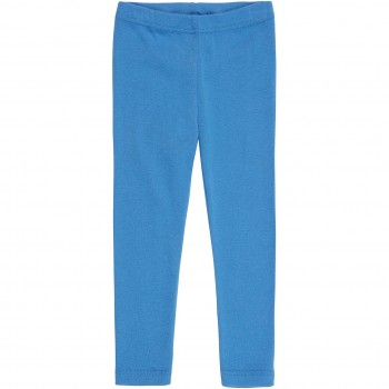 Leichte Ripp Leggings uni blau