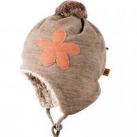 Kuschelige Plüsch Woll Mütze beige