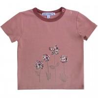 T-Shirt mit Druckknöpfen Blumen