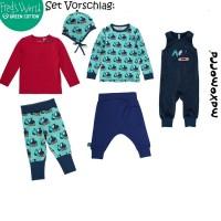 Vorschau: Elastisches Baby- und Kinderlangarmshirt - Bagger