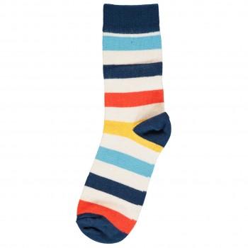 Bunte Socken mit Ringeln im Doppelpack