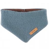 Blaues dickes Wolle Halstuch mit Druckknopf