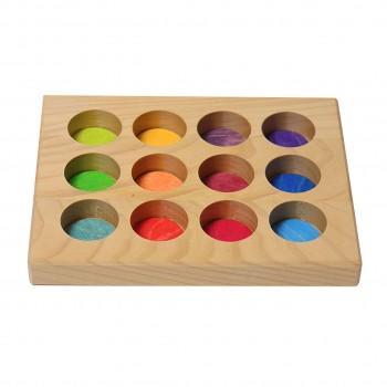 Grimm´s Sortier-Brettchen Regenbogen Farben