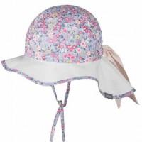 Mädchen Sommermütze verstellbar blau grau pink