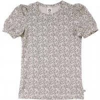 Edles T-Shirt Puffärmel Blümchen Design