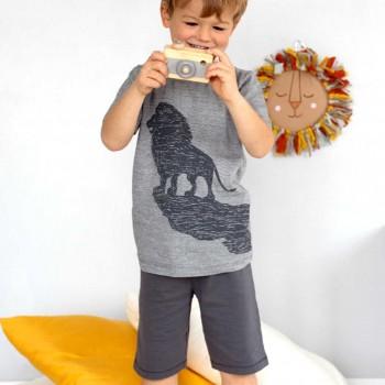 Schlafanzug leicht Shorts und Shirt Löwe