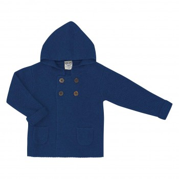 Hoodie Strickjacke in blau