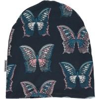 Warme gefütterte Beanie Mütze Winter Schmetterling